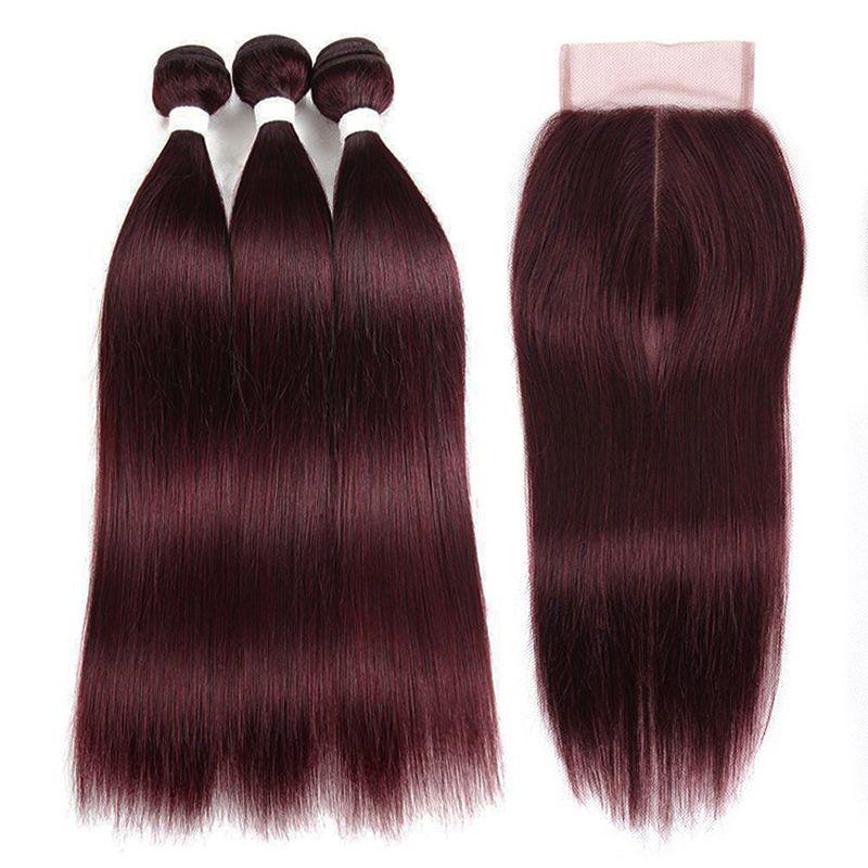acheter faisceaux de cheveux humains de couleur rouge fonce couleur vin rouge fonce avec fermeture tissage avec fermeture fermeture a glissiere