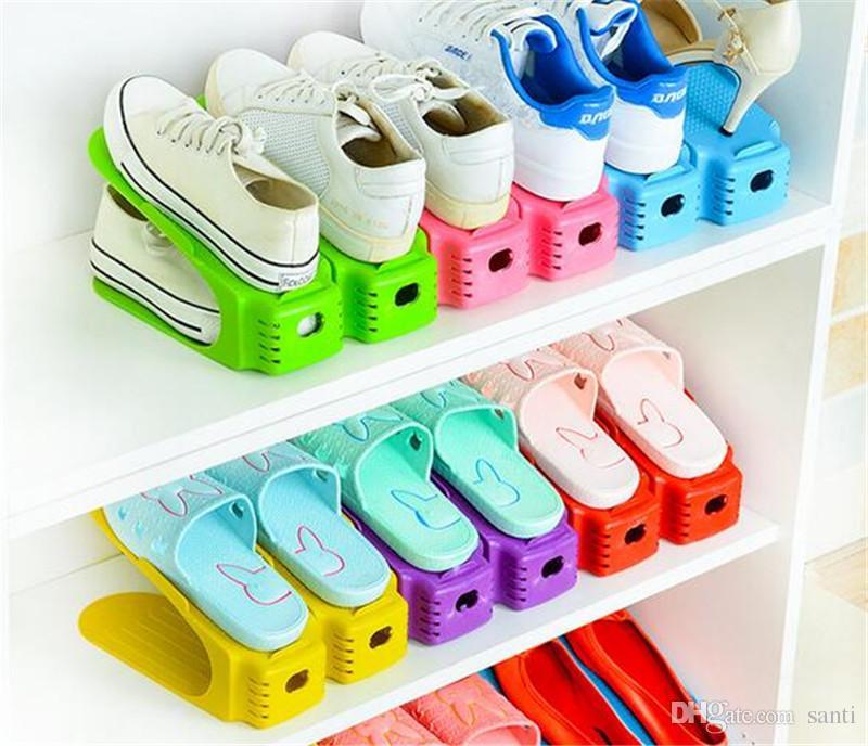 acheter nouvelle maison durable en plastique organisateur de chaussure detache double wide rack de stockage de chaussures moderne double nettoyage