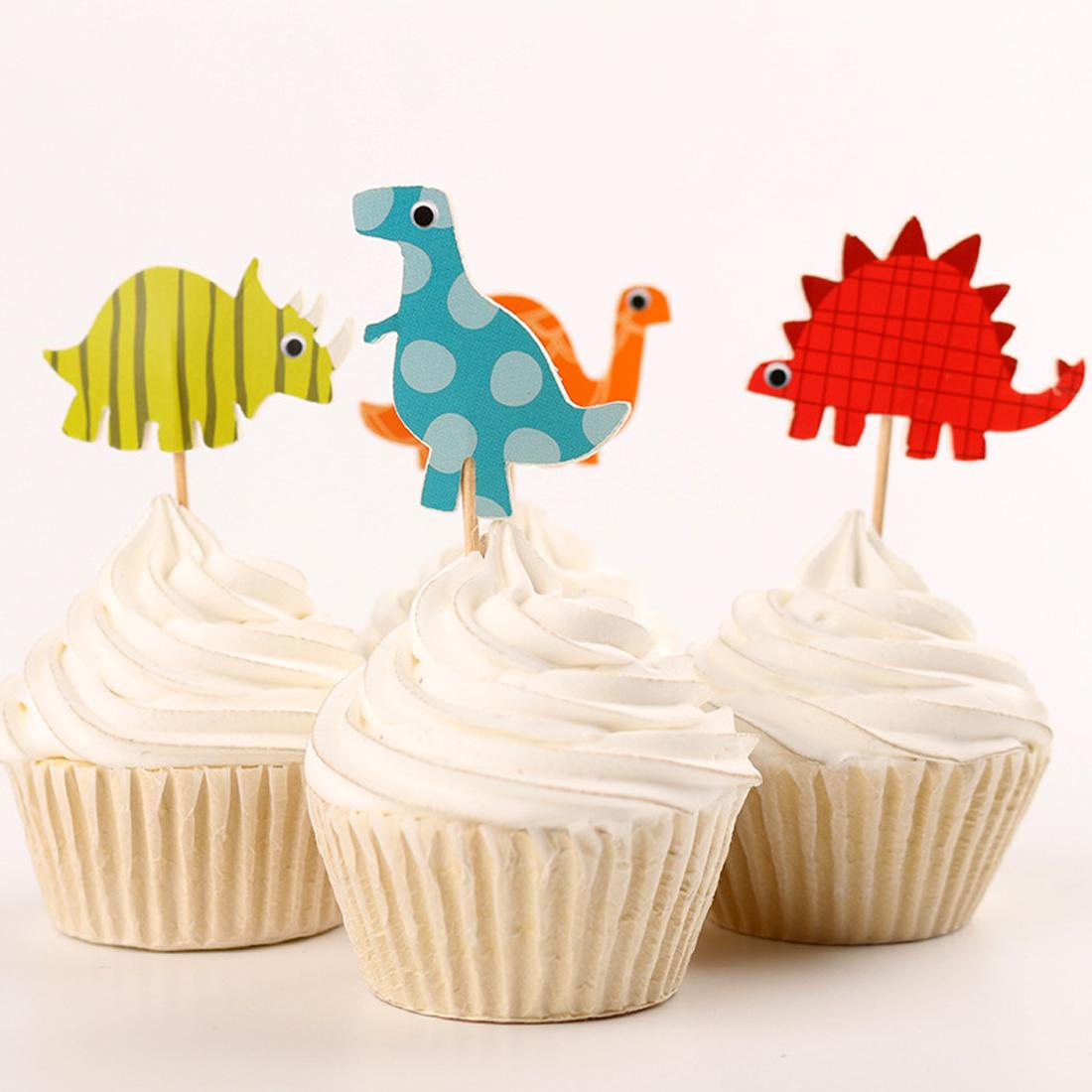 Best Dinosaur Cupcake Cake Decor Baby Shower Supplies Child Kids Birthday Party Cake Baking Party Decoration Italian Party Decorations Items For