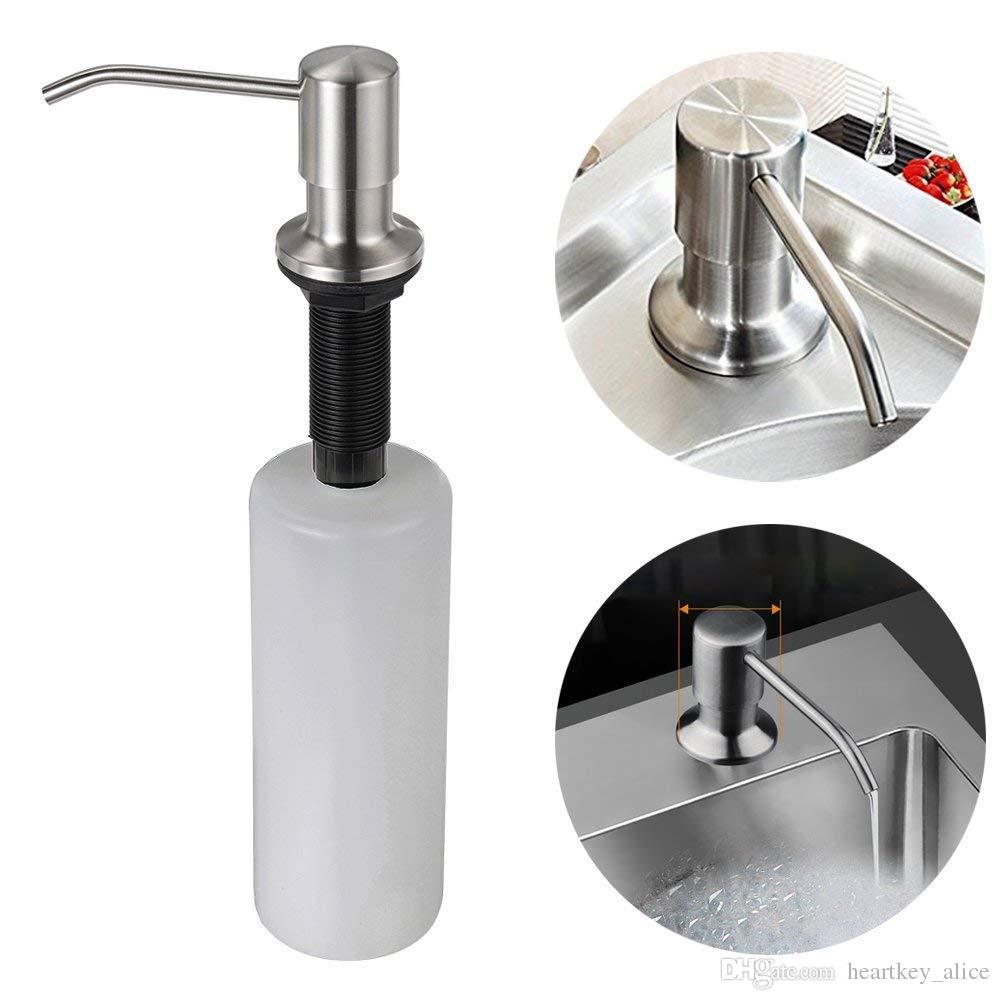 2020 Hot Kitchen Sink Soap Dispenser Stainless Steel Dish Soap