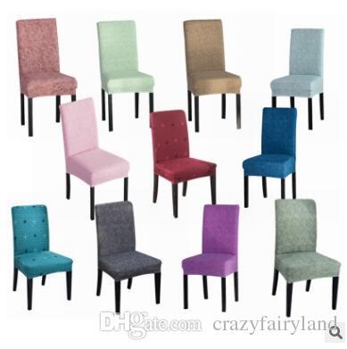 acheter solide couleur salle a manger chaise couverture spandex stretch polyester housse de siege anti sale chaise etui de protection pour wedding