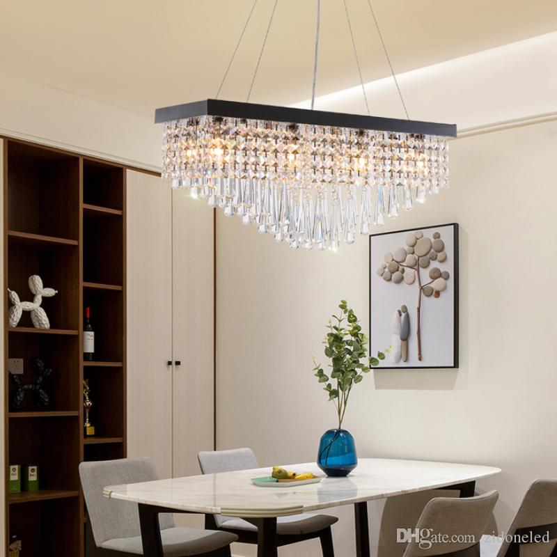 Acheter Lustre En Cristal Moderne Pour La Salle A Manger De 169 79 Du Zidoneled Dhgate Com