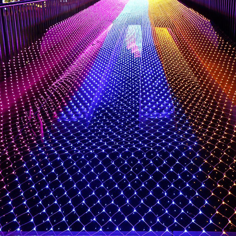 acheter le filet de noel de grande taille led allume 10x8m 6m 4m 3mx3m 1 5x1 5m 3 2m allumant des vacances 4 couleurs des lumieres 110v
