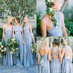 New Dusty Blue Convertible Bridesmaid Dresses Eight Ways To Wear Pleated Floor Length Country Beach Wedding Guest Party Gowns Cheap After Six Bridesmaid Dresses Aqua Bridesmaid Dresses From Alsenlife 67 09 Dhgate Com