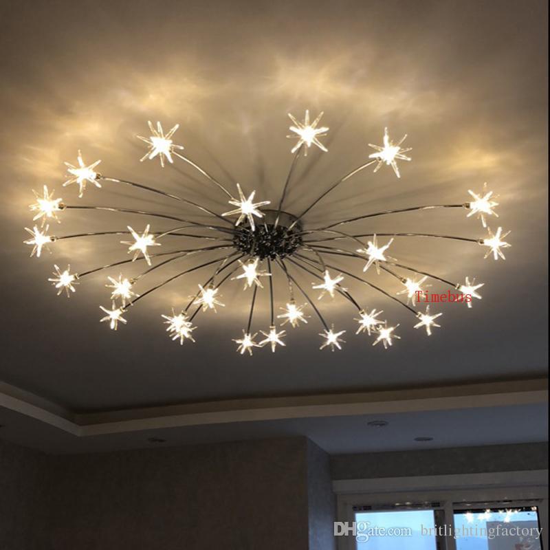 acheter ciel lampe de plafond moderne salon simple creatif chambre enfant lumiere led plafond pleine etoile art decoration hotel restaurant lampe