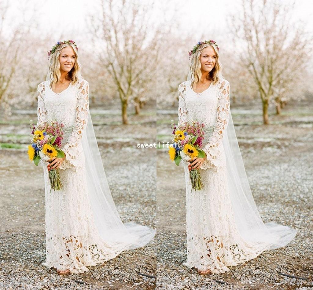 Brautkleid Im Boho Stil Gunstige Brautkleider 2019 Die Schonsten