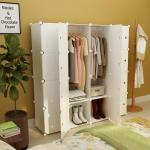 2020 Portable Clothes Closet Wardrobe Bedroom Armoire Dresser Cube Storage Organizer Capacious Customizable White 10 Cubes 2 Hanging Sections From Bestangel 286 43 Dhgate Com