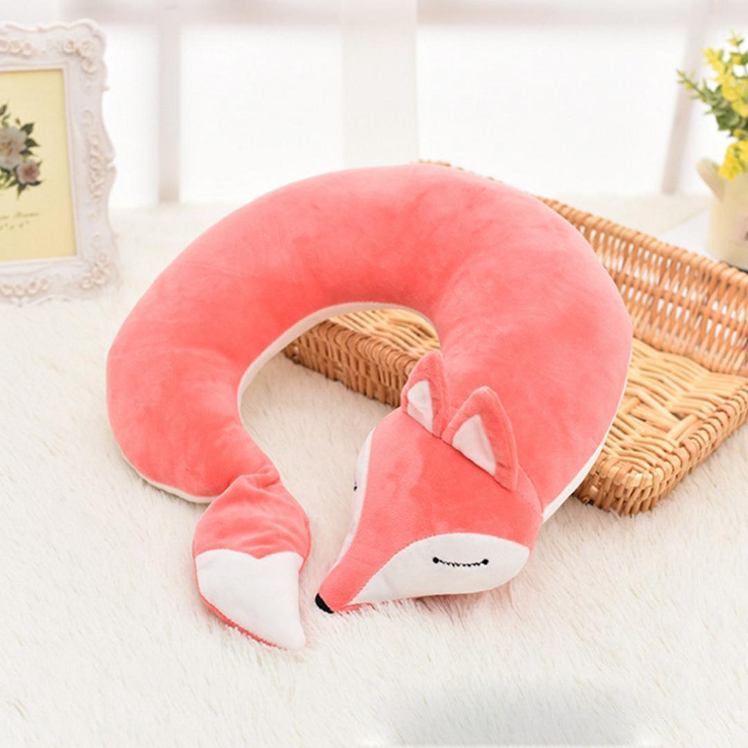 lovely fox animal cotton plush u shape