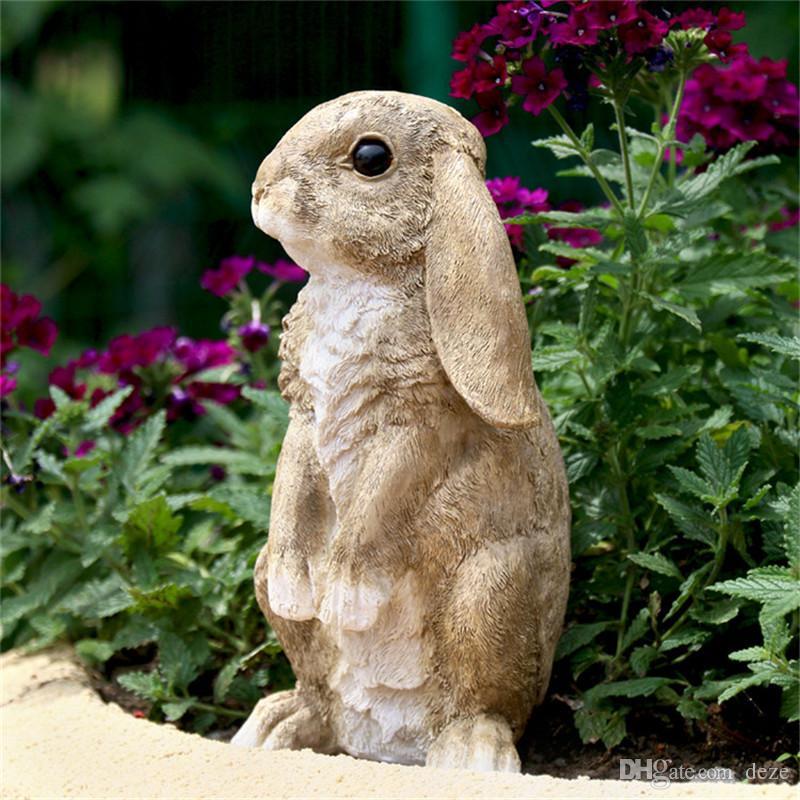 acheter maison jardin decoration en plein air resine lapin lapin figurines ornement jardin art animal figurines maison jardinage decor de 11 09 du