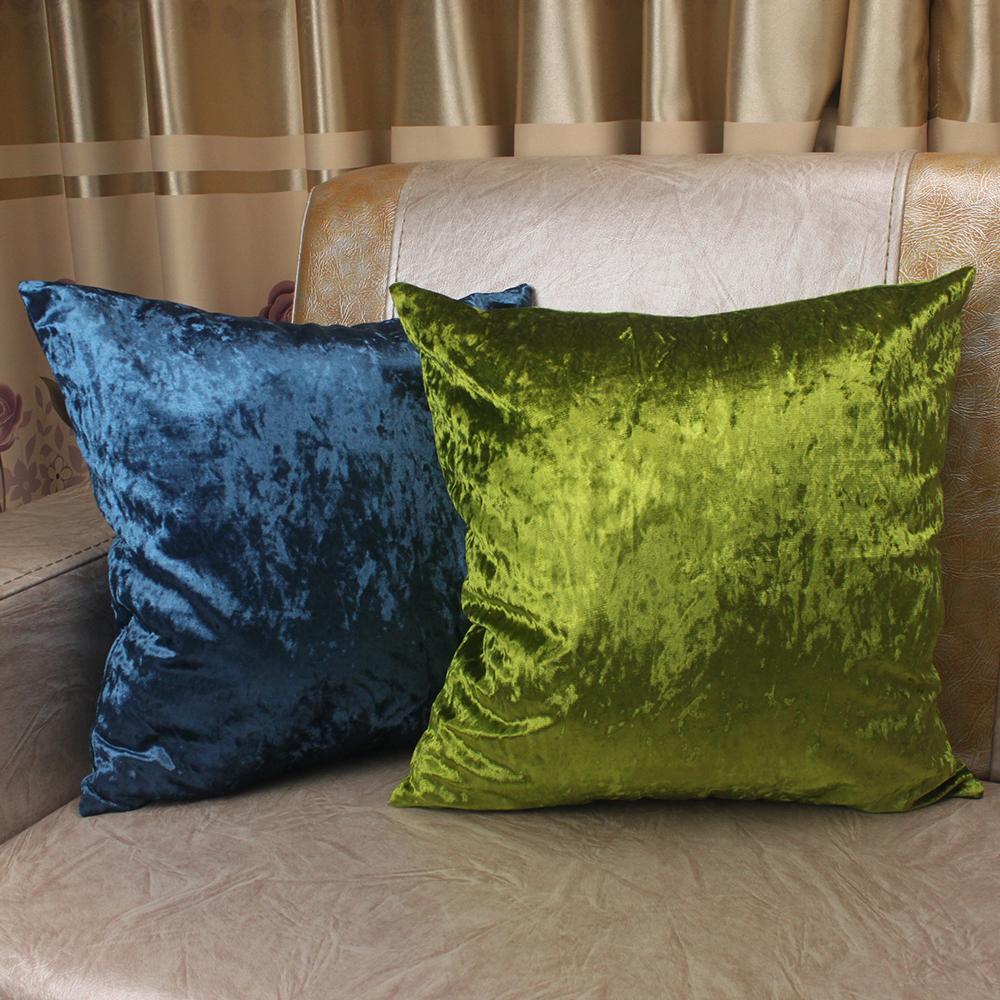 crushed velvet pillow cases online