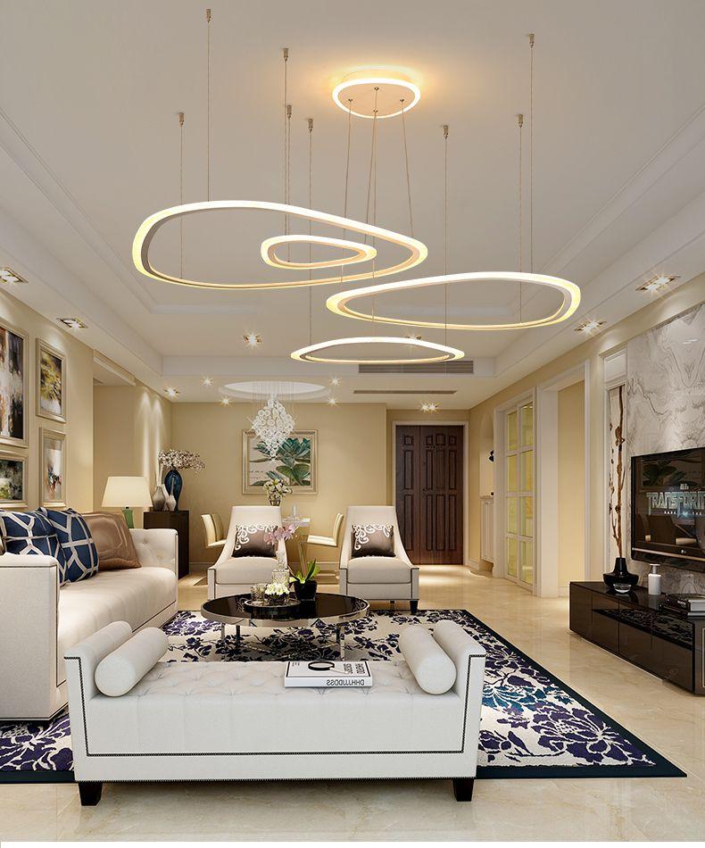 Modern Ring Led Pendant Light Diy Install Acrylic Chandeliers Lighting Fixture For Living Room Dining Room Bedroom Hall Star Pendant Light 3 Light Pendant From Zhiyuanled 132 43 Dhgate Com