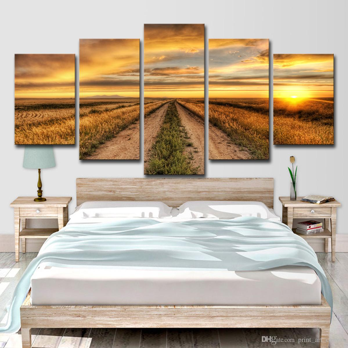 2019 Hd Print Country Road At Sunset Farm Painting Canvas Print Room Decor Poster Wall Art Picture Canvas From Print Art Canvas 16 41 Dhgate Com