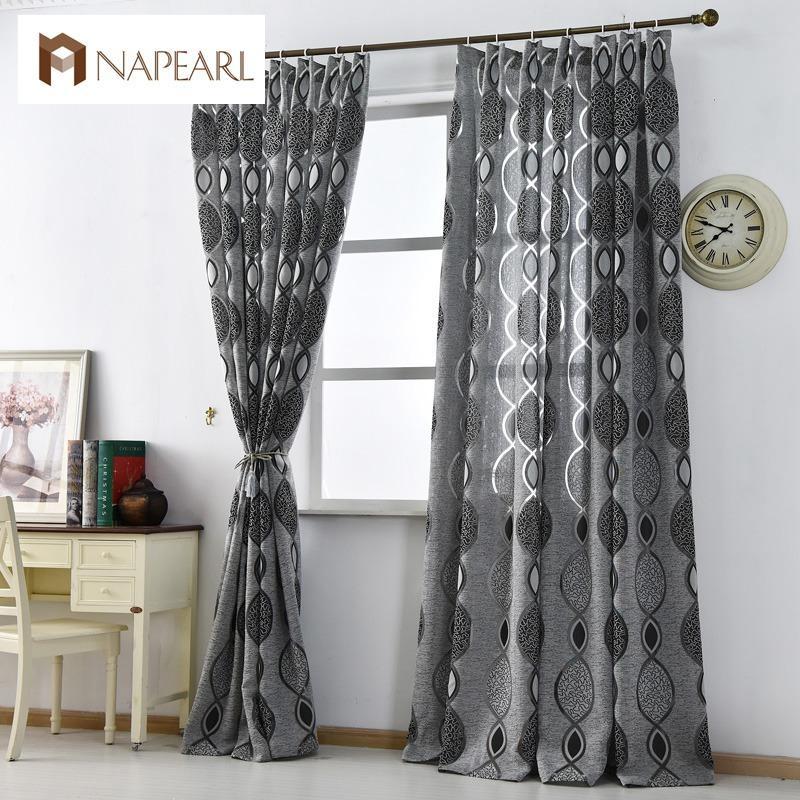 acheter rideau moderne decoration de la maison salon rideaux fenetre tissu noir pret de luxe rideau fenetre traitements brand new fashion de 22 08