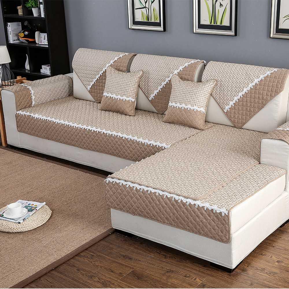 modern simplicity linen non slip couch