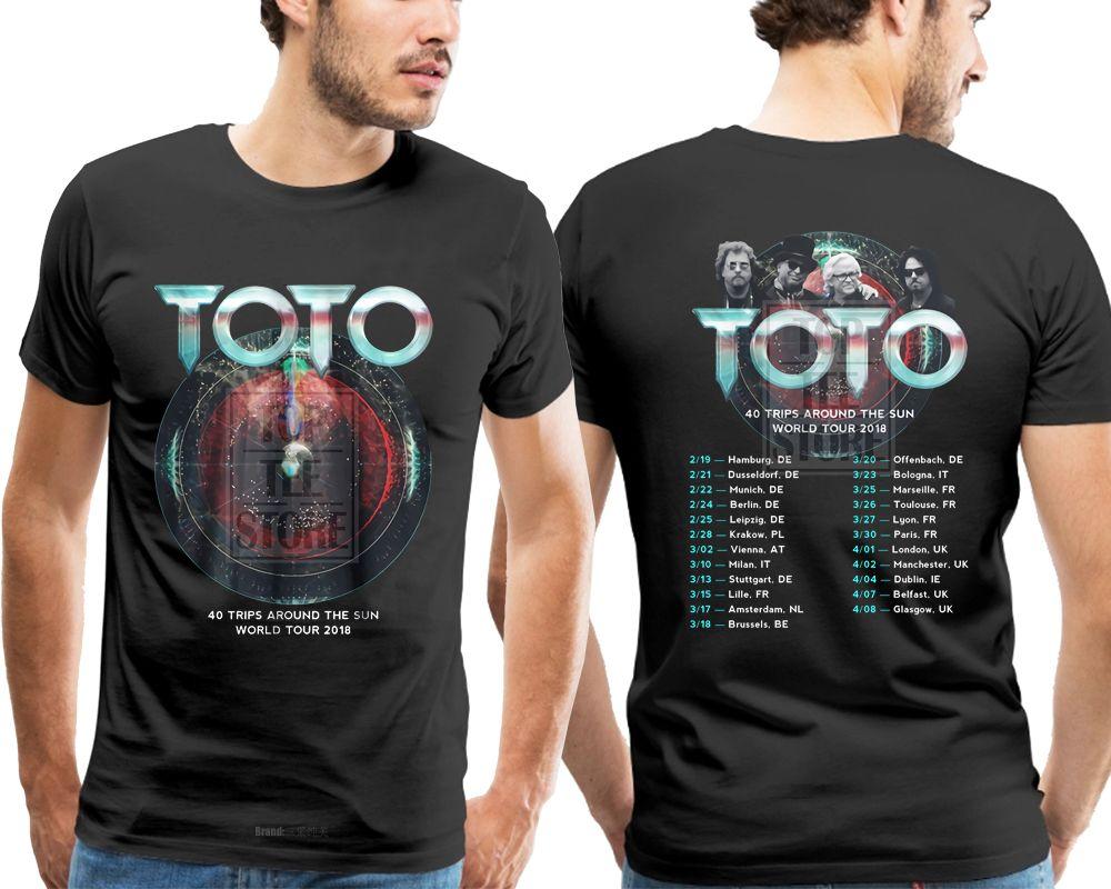 acheter nouveau toto 40 voyages autour du soleil world tour 2019 t shirt noir s 4xl t shirt mode homme homme de 20 94 du mrsugarstore