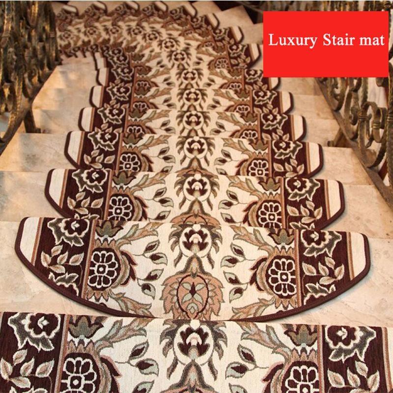Stair Treads Carpet Sets Non Skid Stair Mats No Install Needed | Plush Carpet Stair Treads | True Bullnose Carpet | Super Soft | Anti Slip | Wool Carpet | Wall Carpet