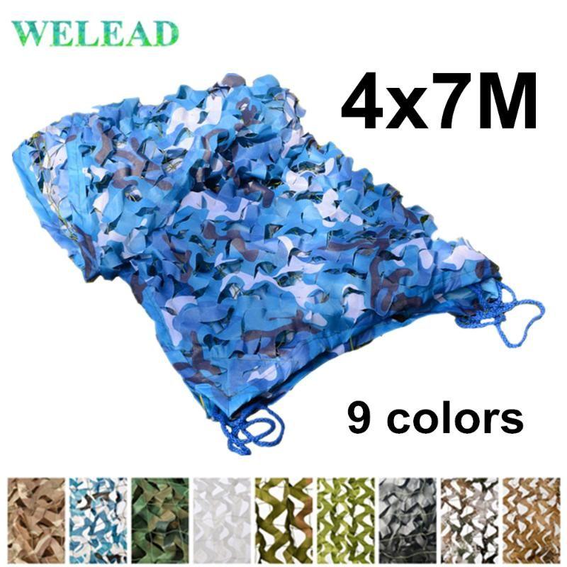 acheter welead 4x7m renforce filets de camouflage blanc bleu sable pour jardin reseau camo hiding ombrage 4x7 awning 4 7m 7x4 7x4 de 101 82 du