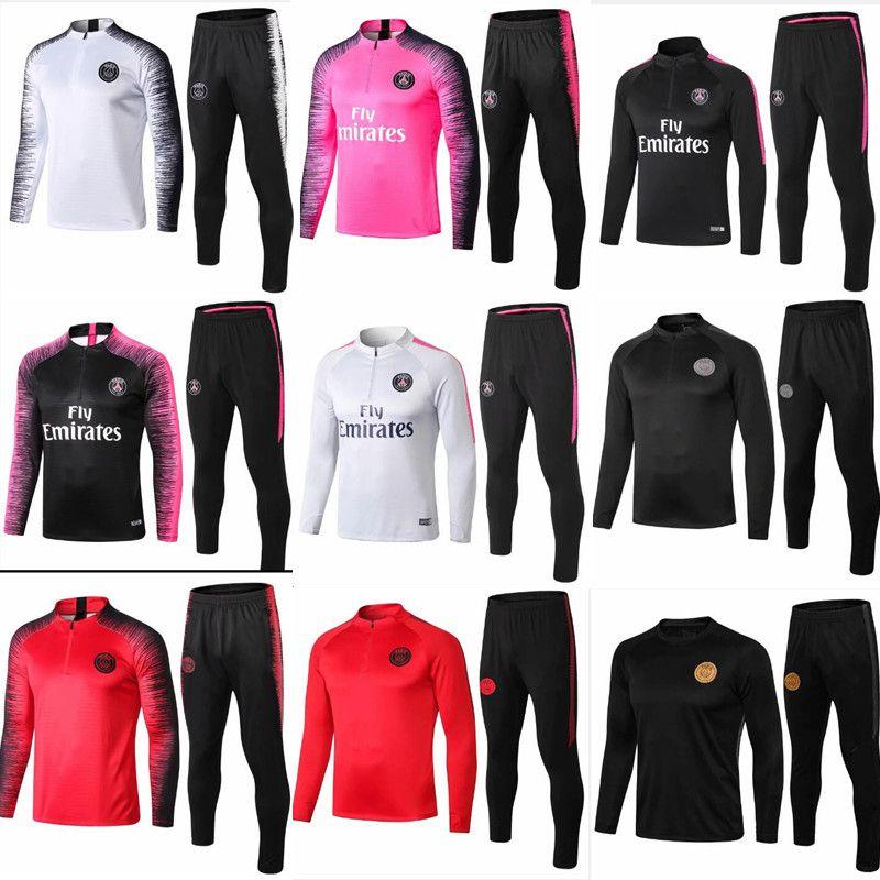 grosshandel psg pinker trainingsanzug marseille paris fussball trainingsanzug real madrid trainingsanzuge 2018 2019 mbappe lucas lederjacke set von