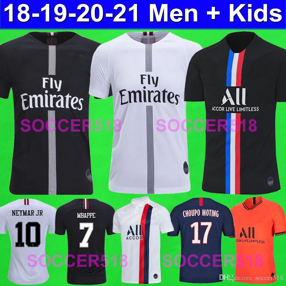 acheter 2018 2019 2020 psg air jordan neymar mbappe icardi jr maillots de foot paris saint germain champion de la psg chemise psg enfants kids maillot