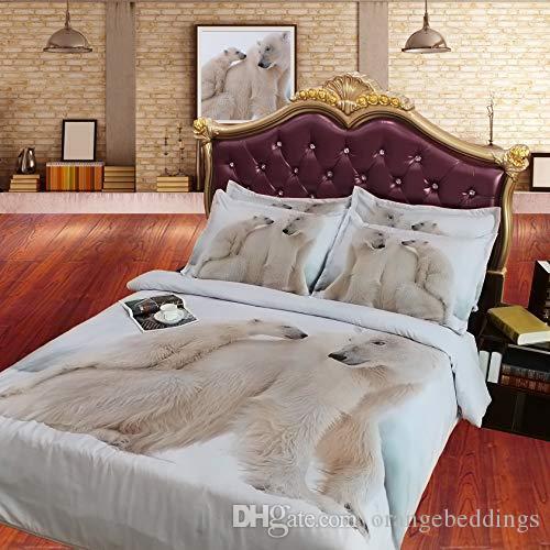 polar bear bedspread white bedding