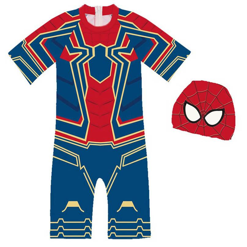 2020 2020 New Spider Man Cartoon Boys Swimwear Kids Swimwear Boys Swimsuits Kids Bathing Suits One Piece Hats Boys Swimsuits B1120 From Hello Boys 8 31 Dhgate Com