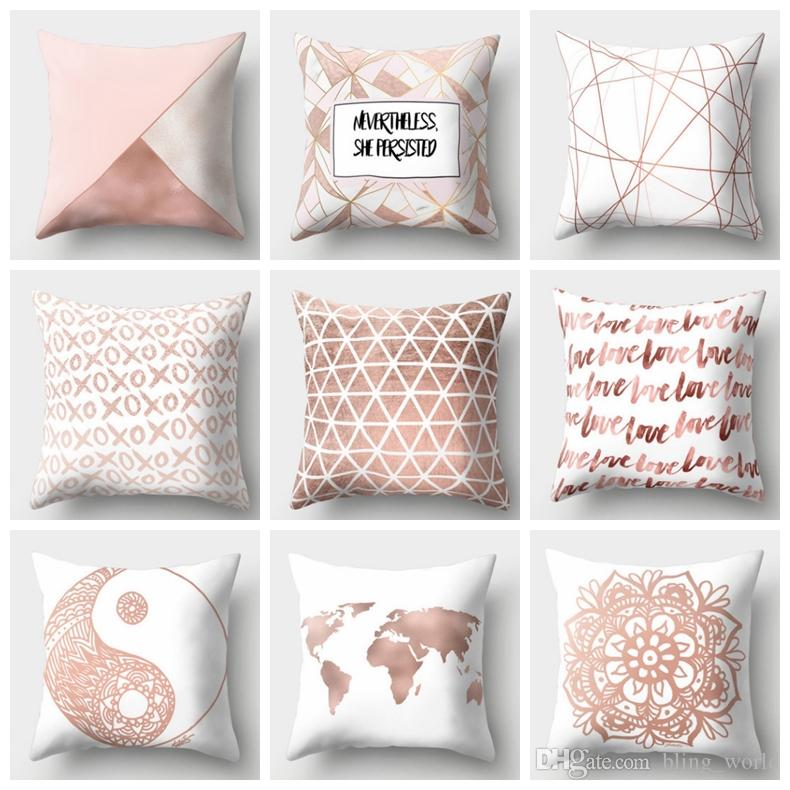 geometric pillow covers nordic style