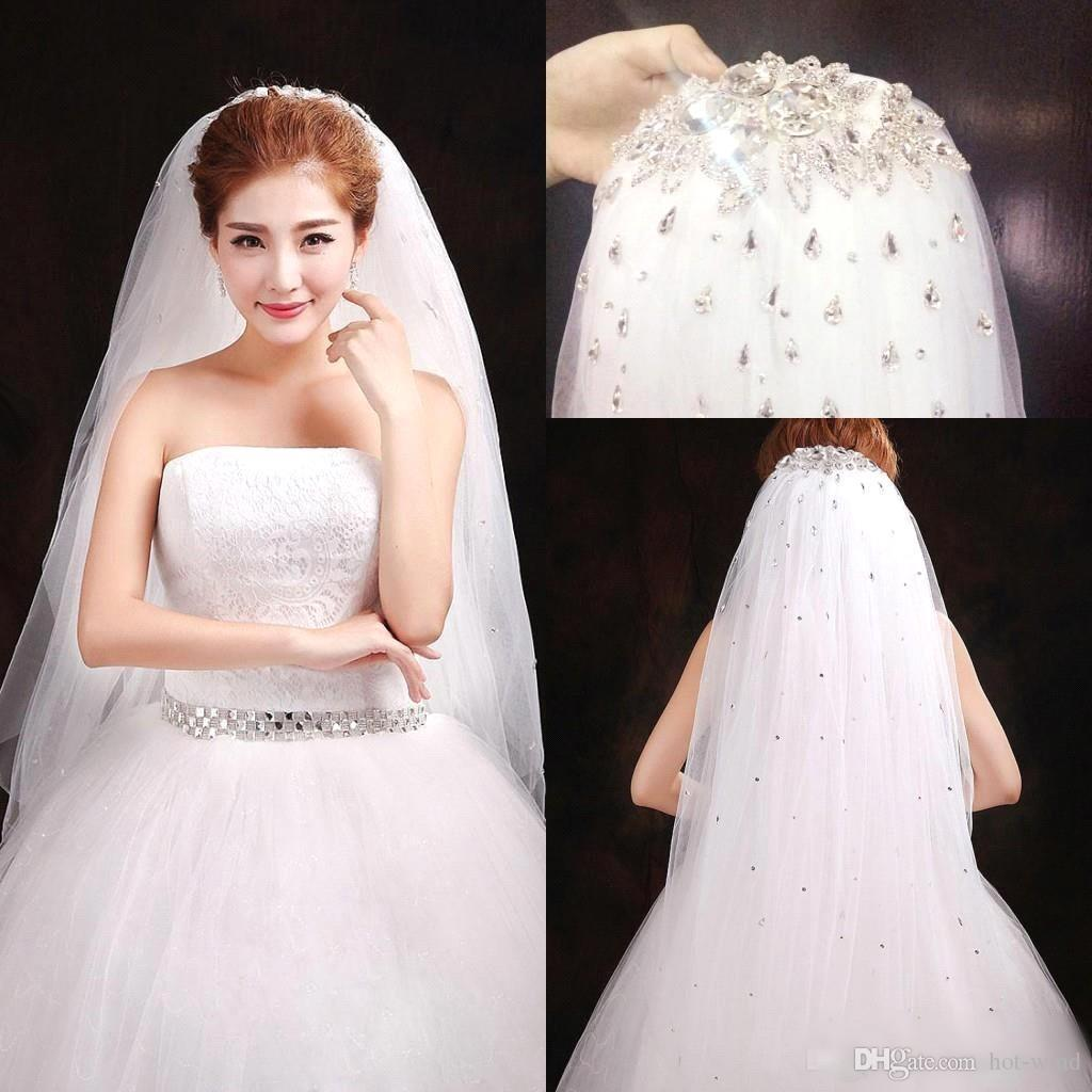 866b31674ab5 frieda short strapless cheap tulle wedding dress on sale at. 2016 high  quality bridal veils new arrival sequined sparkly