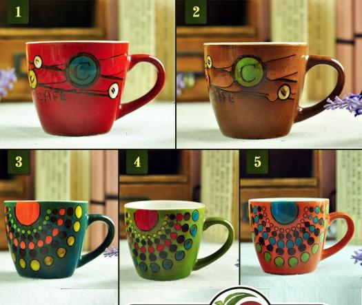 Hand Painting Fl Ceramic Mug Coffee Cup Milk With Handgrip Home Decoration 150ml