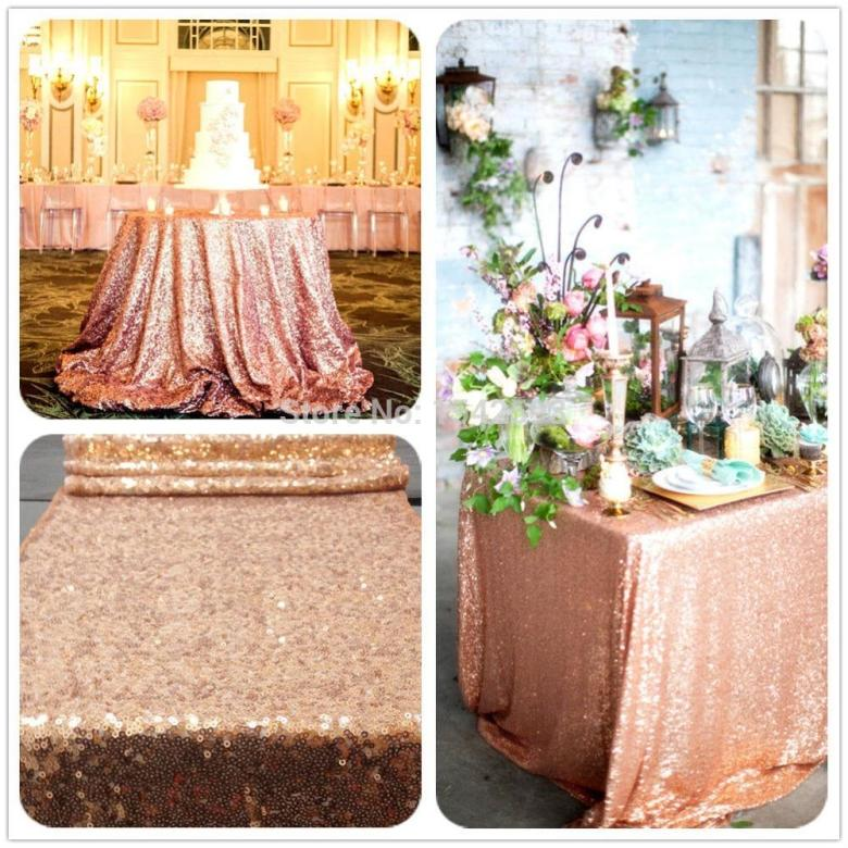 6ft rectangle rose gold sequin tablecloth,hand embroidery designs