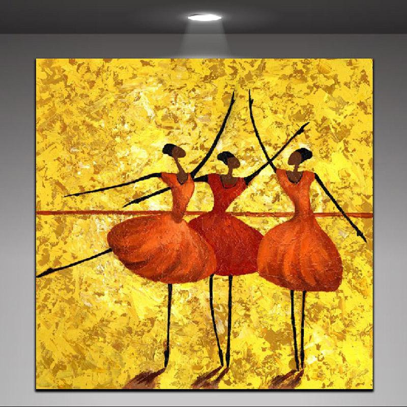 2019 Abstract Painting Dancing Women Elegant Ballet Charming Modern Wall Oil Painting Printed On