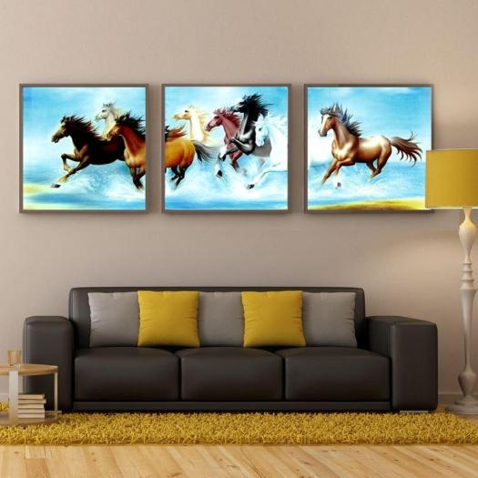 Best 3 Panel Hot Pentium Horse Modern Wall Oil Painting Home Decorative Art Picture Paint On Canvas Prints No Frame Under 30 87 Dhgate Com