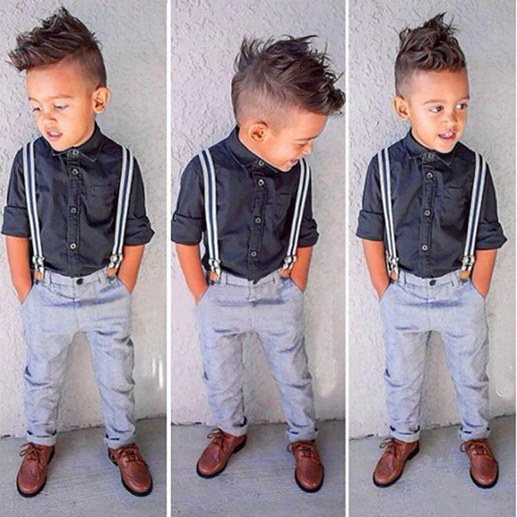 New Gentleman Baby Boy T ShirtSuspender Trousers Overall