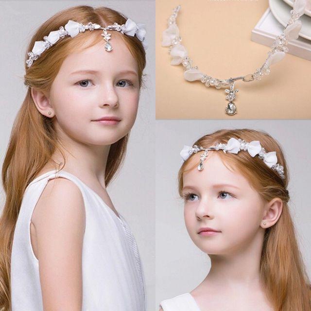 newest junior bridesmaid bride accessories headband hairwear crystal children hair wedding accessories rhinestone girls head pieces