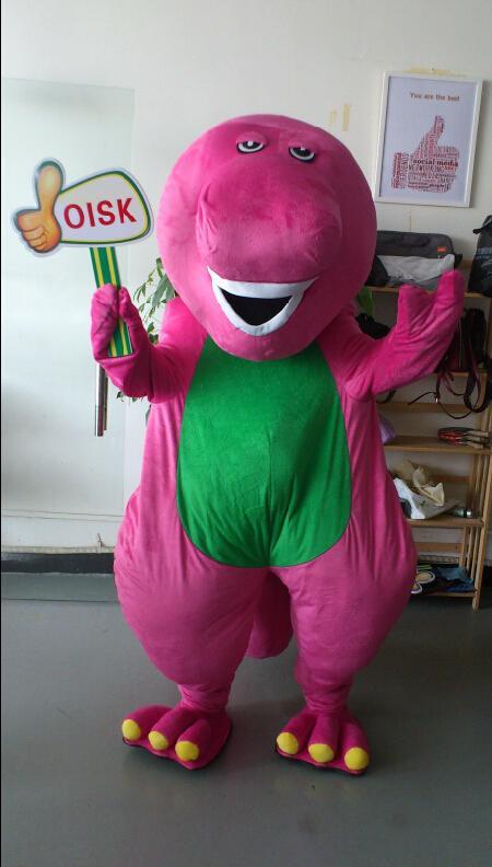 Actual Picture High Quality Purple Barney Mascot Costume
