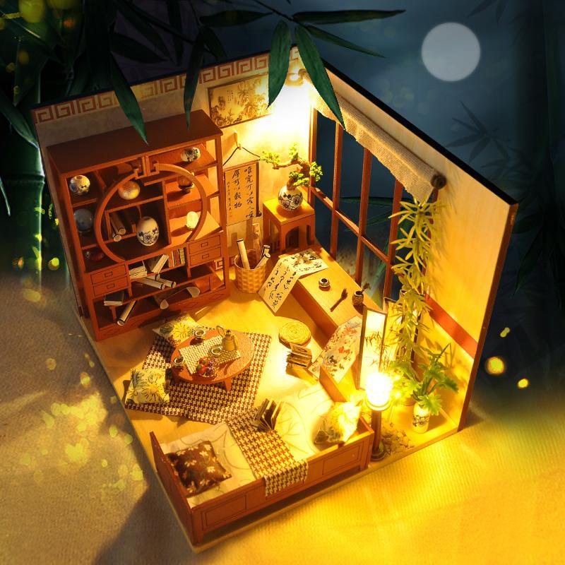 acheter diy maison de poupee meubles moxiangge miniature dollhouse jouets pour enfants sylvanian maison familiale avec tous les accessoires lol maison de