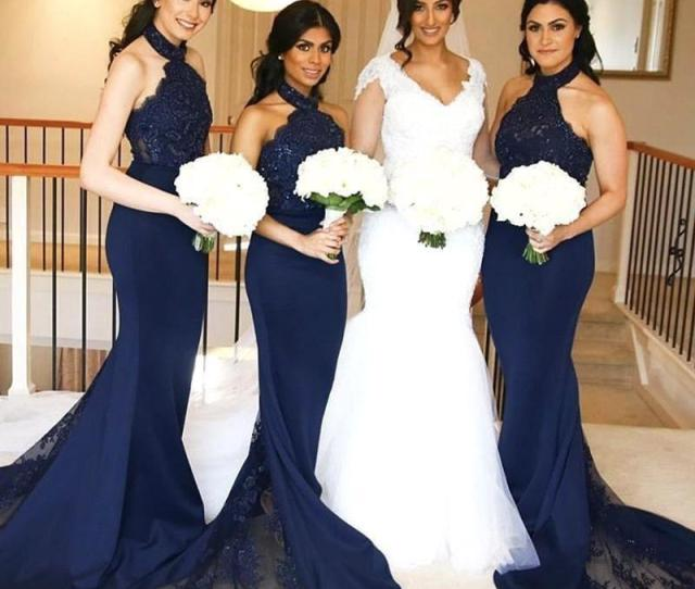 Lace Maid Of Honor Gowns Long Formal Wedding Guest Dresses Custom Ba7936 Discount Bridesmaids Dresses Ebony Rose Bridesmaid Dresses From Lindaforever