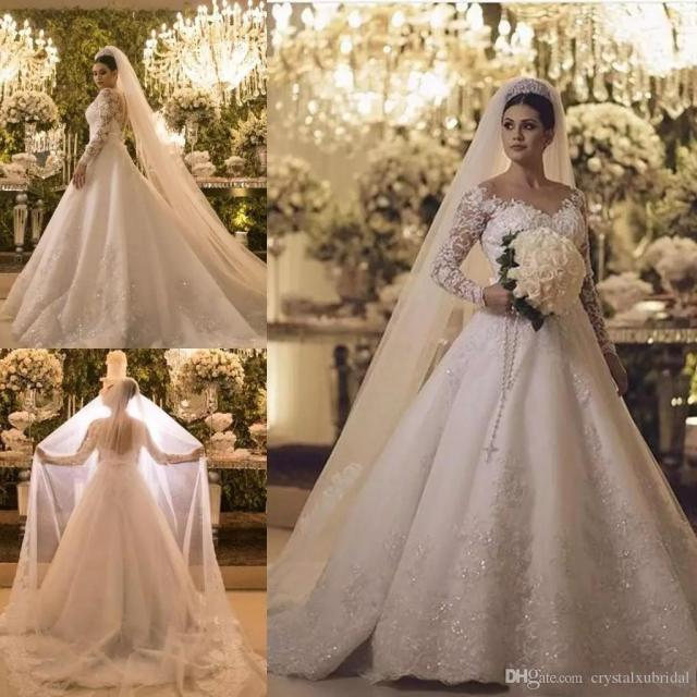 2019 new cheap bridal veils wedding hair accessories white ivory long crystal beaded lace tulle cathedral length 3 m church veil with comb