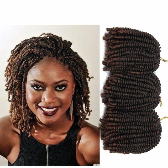 30 strands / pack 8 zoll afro haar nubian kinky nubian twist braid haar synthetische frühling twist häkeln braid
