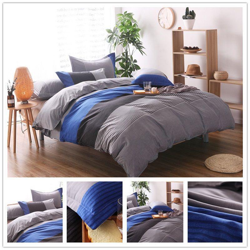acheter ensemble de literie boheme raye ensemble de taies d oreiller de couverture de couette de linge de lit de polyester doux ensembles de lit 2 de