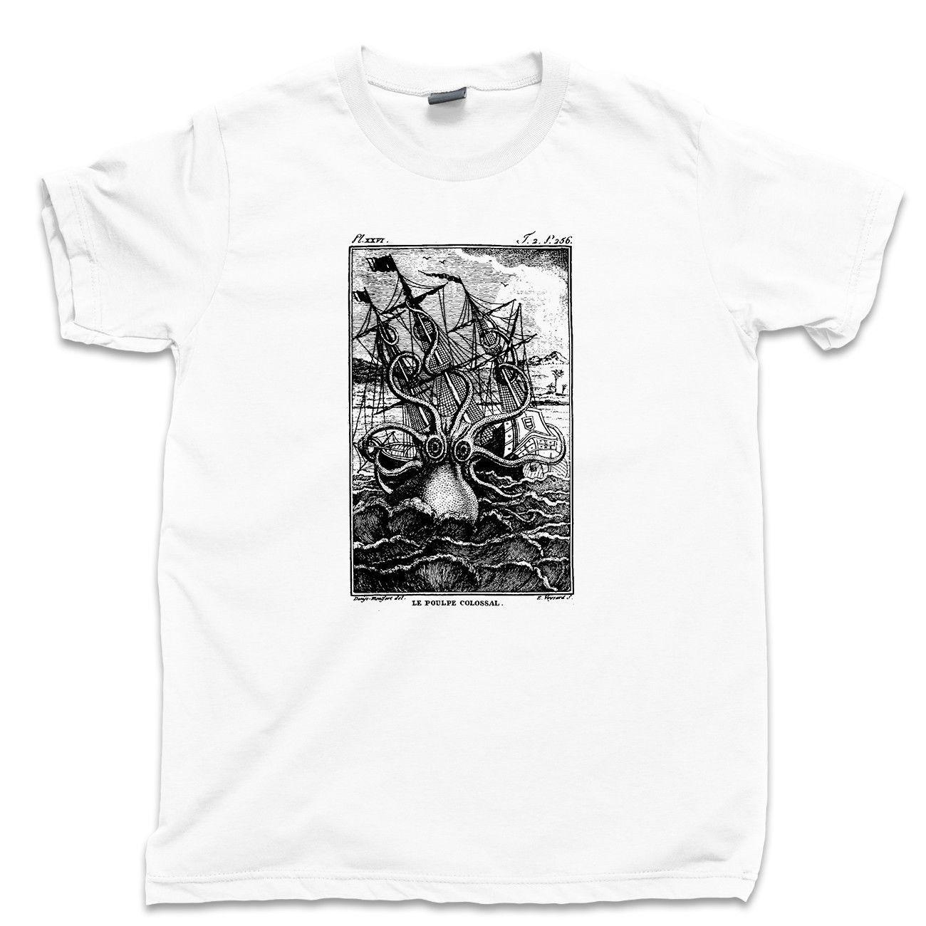 Kraken Giant Octopus T Shirt Pirate Phantom Ghost Ship