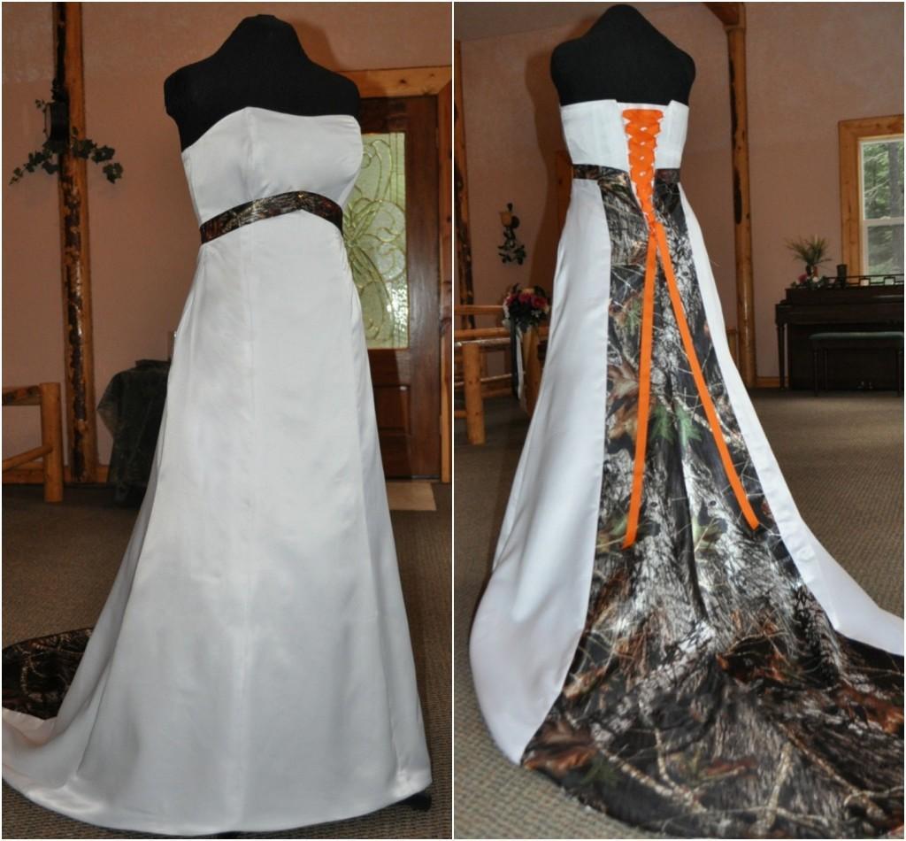 Cheap White Camo Wedding Dresses Ficts