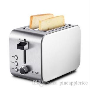 2018 2 Slices Electric Toaster Stainless Steel Wide Slots Bread     2018 2 Slices Electric Toaster Stainless Steel Wide Slots Bread Toast  Machine Household Breakfast Machine Automatic Shut Off From Pineapplerice