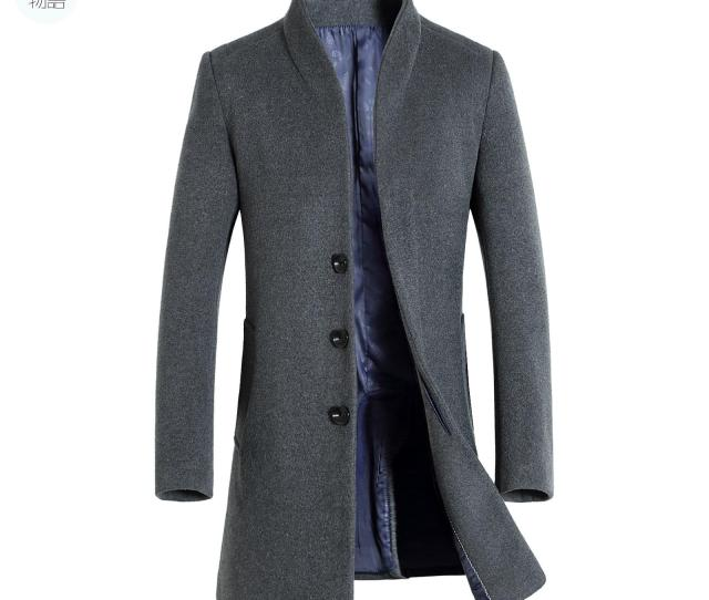 2019 Shanghai Story Mens Long Trench Coat Wool Coat Fashion Buckle Woolen Coat Business Mens Winter From Glacier Dhgate Com