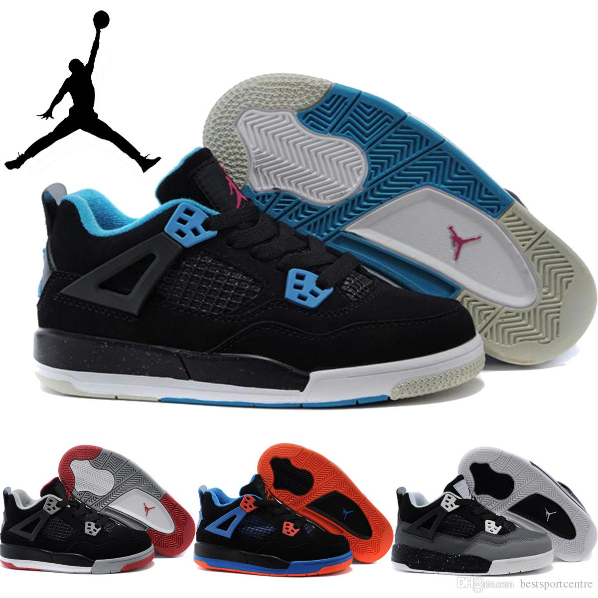 Nike Air Jordan Retro 4 Children Shoes Boys Girls