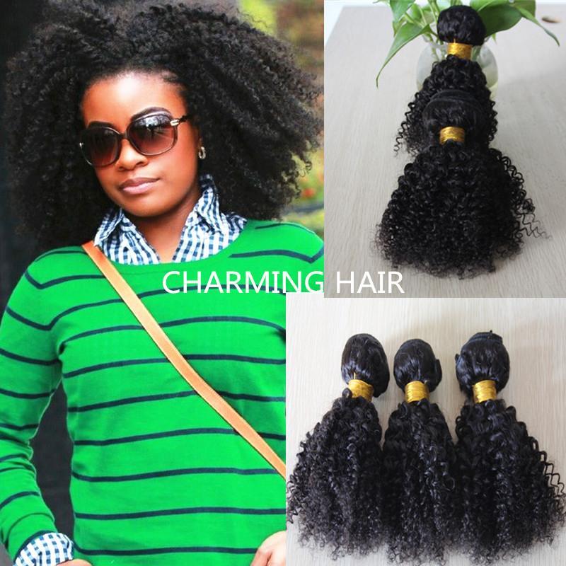 Cheap Charming Hair Weaving Curly Brazilian Afro Kinky