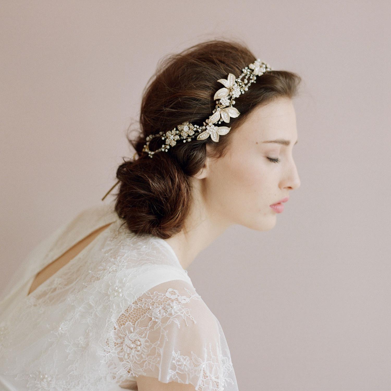entwined crystal hair vine petals wedding headband bride accessories hair accessories vintage bridal combs rhinestone hair adornments silver hair