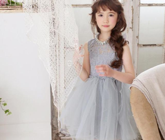 2018 Girls In High Necked Lace Dress Spring And Summer Solid Color Sleeveless Dresses Princess Dress Send Necklace From Zsfvswxm Dhgate Com