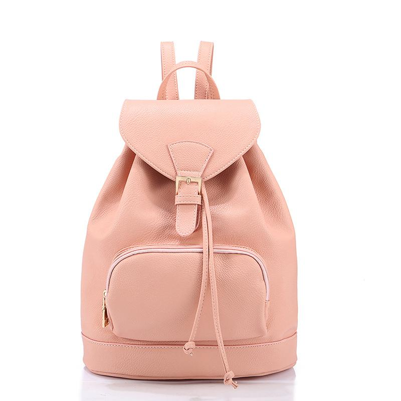2015 New Fashion Backpacks for Teenage Girls Korean Cute Big School     2015 New fashion backpacks for teenage girls korean cute big school book  bags female leather rucksack women preppy backpacks