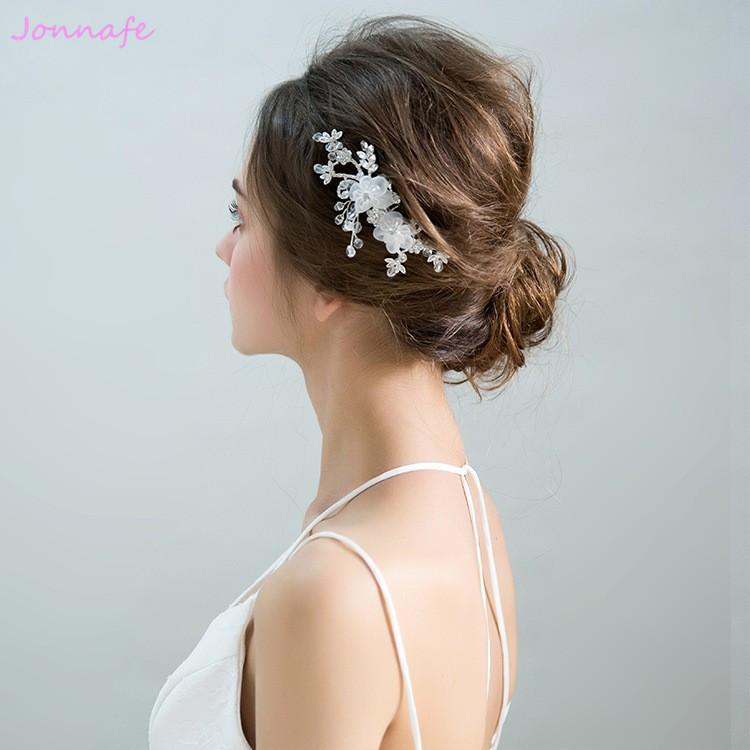 2019 beijia simple white flower bridal hair comb fashion wedding hair piece accessories bridesmaid headpiece women jewelry from beijia2013 42 09 dhgate