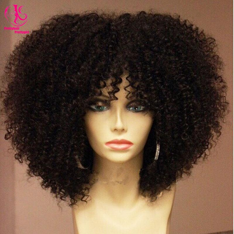 HOT Sales Afro Kinky Curly Synthetic Lace Front Wig Heat